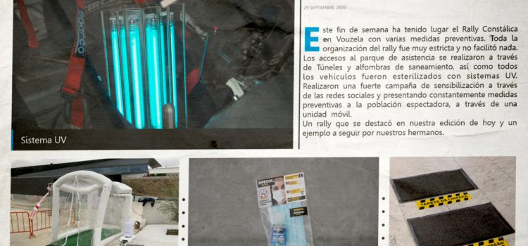 Medidas sanitárias do Constálica Ralye Vouzela chegam a Espanha